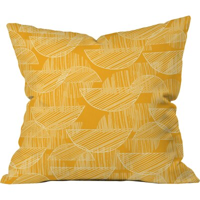 Mustard Arc Showers Polyester Throw Pillow Size: 18 H x 18 W x 5 D