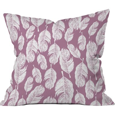 Feather Fun Polyester Throw Pillow Size: 18