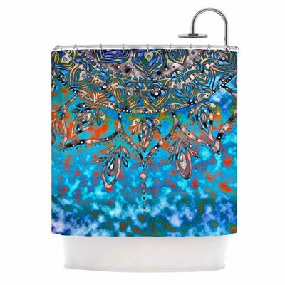 Mandala Shower Curtain Color: Turquoise