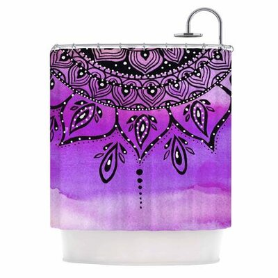 Mandala Shower Curtain Color: Lilac