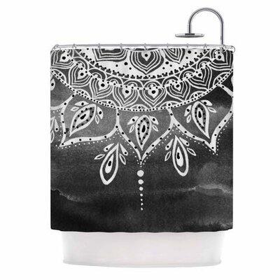Mandala Shower Curtain Color: Black / White