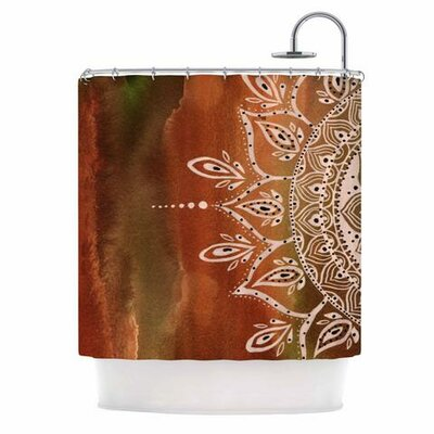 Mandala Shower Curtain Color: Autumn
