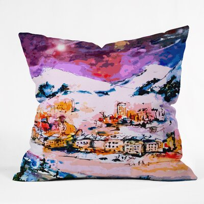 Winter Star Throw Pillow Size: Large
