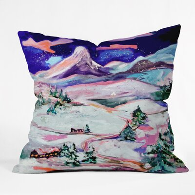 Winter Wonderland Throw Pillow Size: Medium