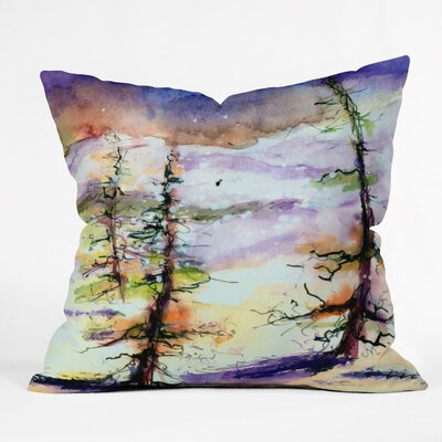 Winter Trees Throw Pillow Size: Large