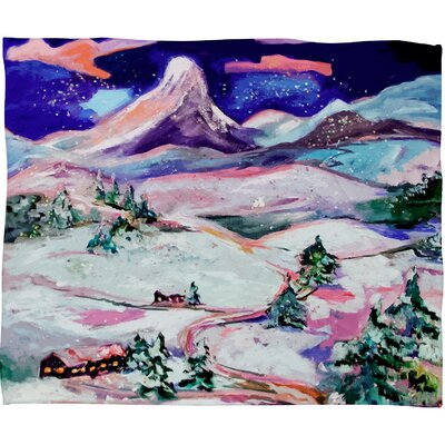 Winter Wonderland Plush Fleece Throw Blanket Size: Small