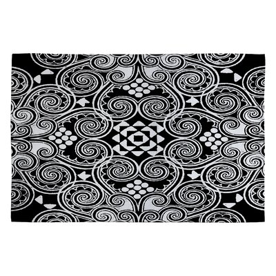 Black/White Decographic Area Rug Rug Size: 2 x 3