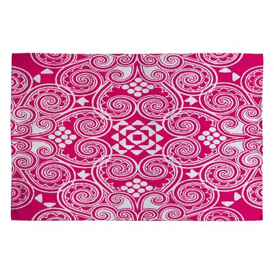 Pink Decographic Area Rug Rug Size: 2 x 3