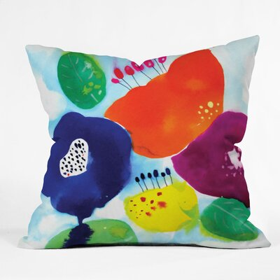 Floral Throw Pillow Size: Small