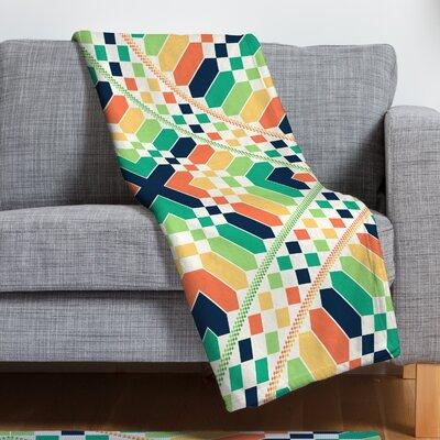 Budi Kwan Retrographic Rainbow Throw Blanket Size: Small