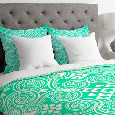 Budi Kwan Decographic Duvet Cover Size: King, Fabric: Lightweight