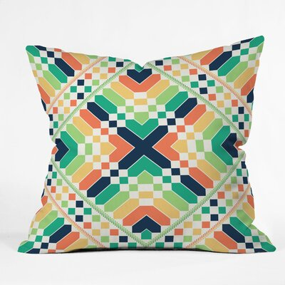 Budi Kwan Retrographic Rainbow Indoor Throw Pillow Size: Small