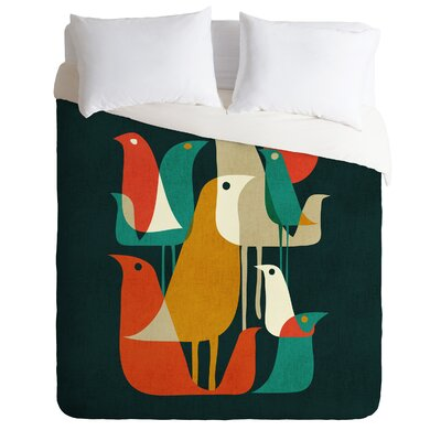 Budi Kwan Lightweight Flock of Bird Duvet Cover Size: King