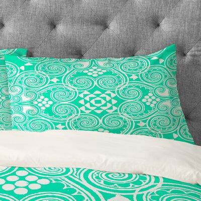 Budi Kwan Decographic Mint Pillowcase Size: King