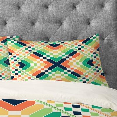 Budi Kwan Retrographic Rainbow Pillowcase Size: King