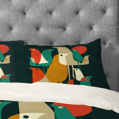 Budi Kwan Flock of Bird Pillowcase Size: Standard