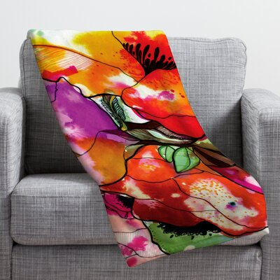 Floral Throw Blanket Size: 40 H x 30 W