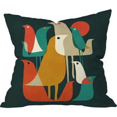 Budi Kwan Flock Of Bird Indoor/Outdoor Throw Pillow Size: Small