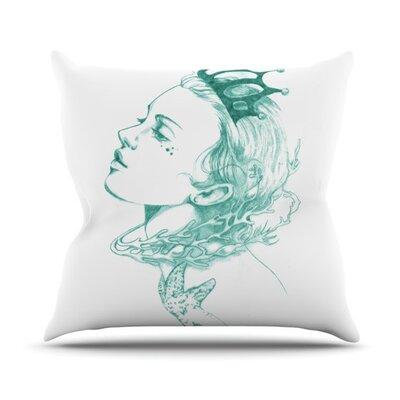 Queen of the Sea by Lydia Martin Outdoor Throw Pillow Color: Green