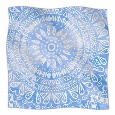Boho Flower Mandala by Nika Martinez Fleece Blanket Color: Blue