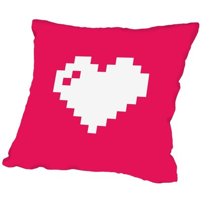 Digi Heart Throw Pillow Size: 16 H x 16 W x 2 D