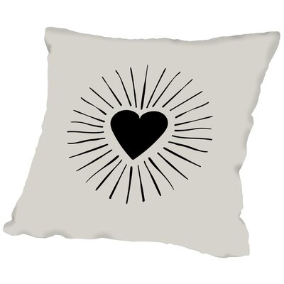 Heart Burst Throw Pillow Size: 16 H x 16 W x 2 D
