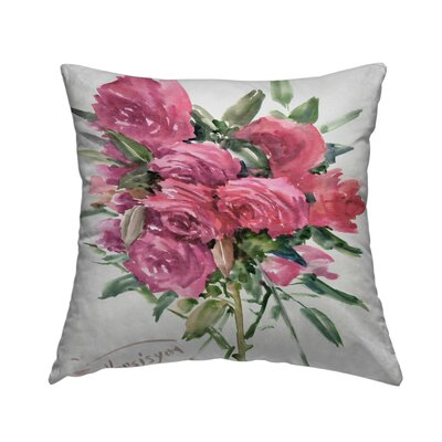 English Roses Throw Pillow Size: 18 H x 18 W x 2 D