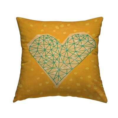 Geometric Heart Throw Pillow Size: 14 H x 14 W x 2 D