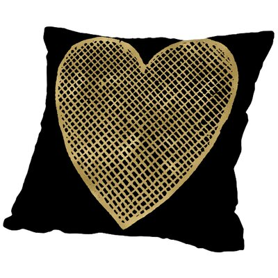 Heart Crosshatched Throw Pillow Size: 18 H x 18 W x 2 D