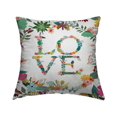 Love Throw Pillow Size: 20