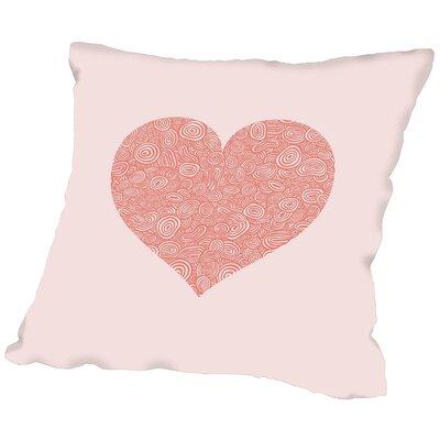 Love Hearts Swirl Throw Pillow