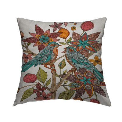 Lovebirds Throw Pillow Size: 18 H x 18 W x 2 D