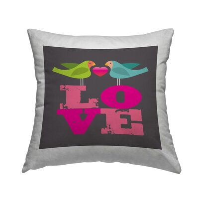 Lovebirds Throw Pillow Size: 16 H x 16 W x 2 D