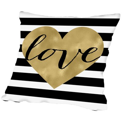 Love Heart Throw Pillow Size: 18 H x 18 W x 2 D
