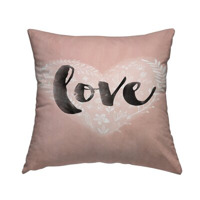 Love Heart Throw Pillow Size: 16 H x 16 W x 2 D