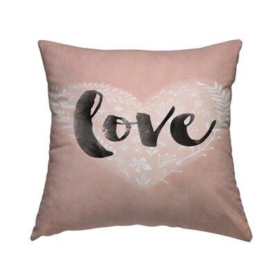 Love Heart Throw Pillow Size: 14 H x 14 W x 2 D