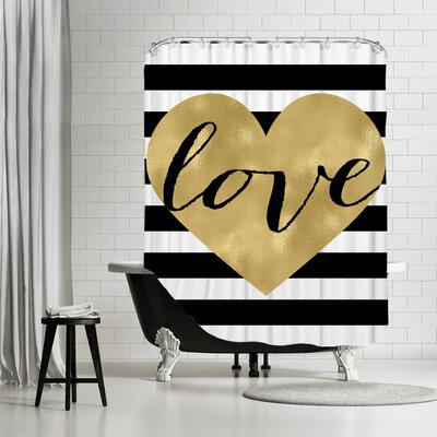 Love Heart Shower Curtain