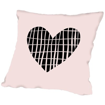 Sketch Love Heart Throw Pillow Size: 18 H x 18 W x 2 D