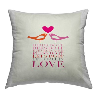 Birds Do It Throw Pillow Size: 18 H x 18 W x 2 D