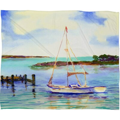 Summer Sail Throw Blanket Size: Medium