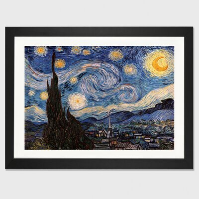 'The Starry Night' by Vincent van Gogh Framed Painting Print ESRB6895 34656344