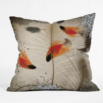 Feather Dance Throw Pillow Size: 16 x 16