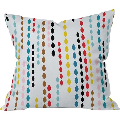 Drops Throw Pillow Size: 16 H x 16 W
