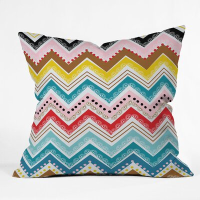 Chevrons Throw Pillow Size: 16 x 16