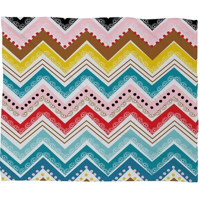 Chevrons Throw Blanket Size: Medium