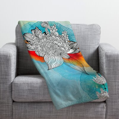 Coral Throw Blanket Size: Large