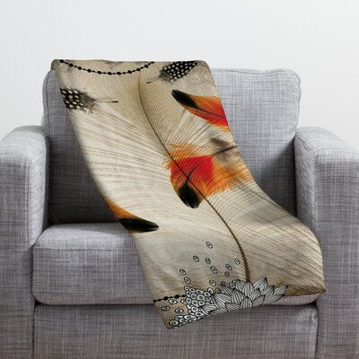 Feather Dance Throw Blanket Size: Medium