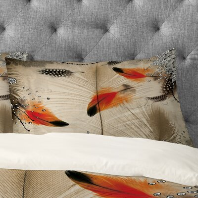 Feather Dance Pillowcase Size: King