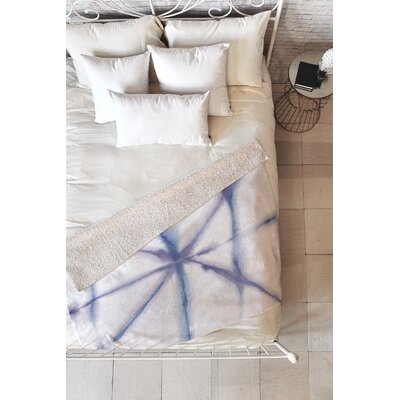 Light Dye Folding Sherpa Fleece Blanket