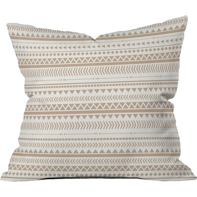 Rayner Aztec Indoor/Outdoor Throw Pillow Color: Brown, Size: 18 x 18